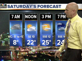 Here comes a cold Saturday