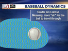 Weather Wise: Baseball flight in warm air