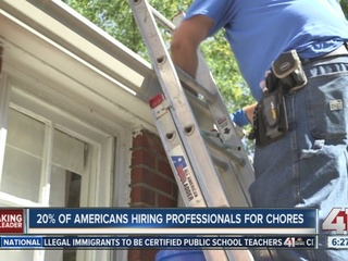 20% of Americans hiring professionals for chores