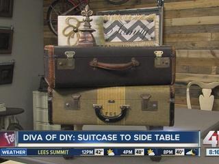 DIY: Transform suitcase into vintage side table