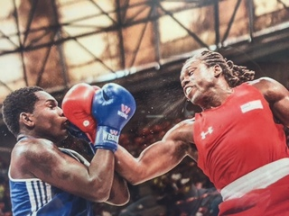 Lenexa boxer Cam F. Awesome trains for Olympics