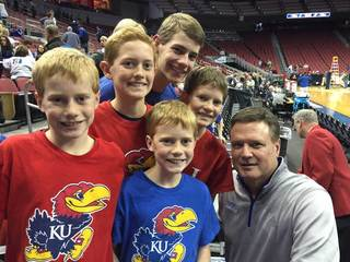 VIDEO: KU fans who came to Sweet 16 practice