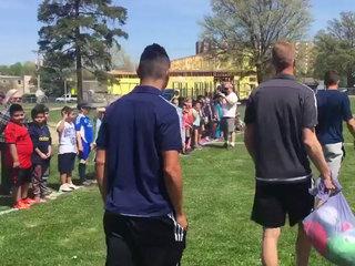 OP students get soccer field w/ Sporting's help
