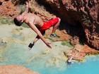 VIDEO: Cliff jumping at Havasupai Falls