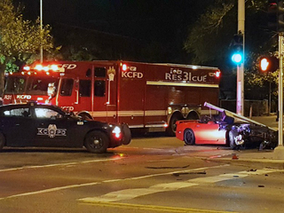 Driver arrested after crash at Main and Armour