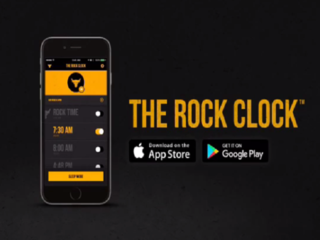 The Rock's new alarm app: 'It's time to get up!'