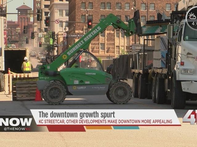 Construction booms along KC Streetcar route