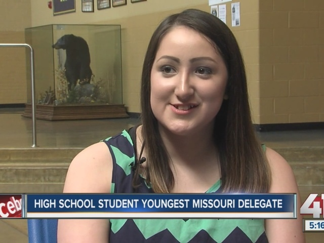 High school student is youngest Missouri delegate