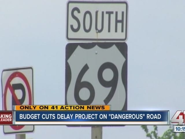 Kansas budget cuts delay project on 'dangerous and deadly' road