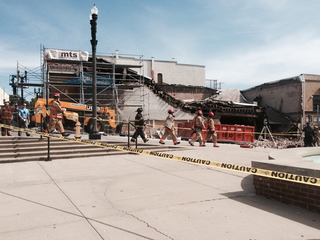 Building on Liberty Square partially collapses