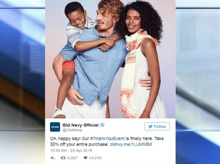 Old Navy 'thank you' tweet sparks racist remarks