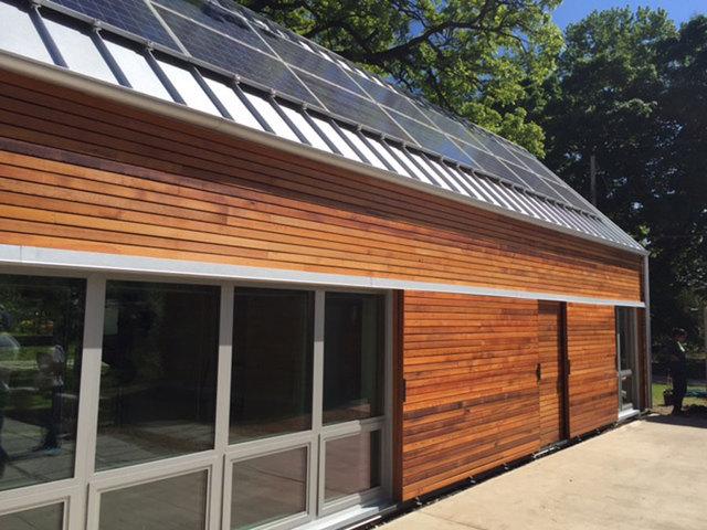 University of kansas students build solar powered house for Kansas solar installers