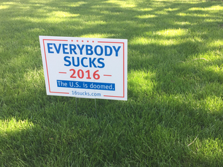 'Everybody Sucks:' Campaign sign turning heads