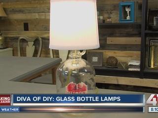 Diva of DIY: Glass bottle lamps
