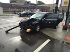 Streetcar and car full of teens collide