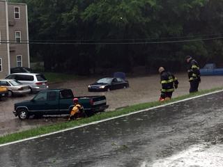 Flash flood leads to apartment evacuation