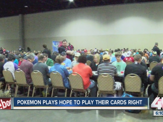 Gotta catch 'em all! Pokémon players hope to play their cards right at…
