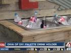 Diva of DIY: Palette drink holder
