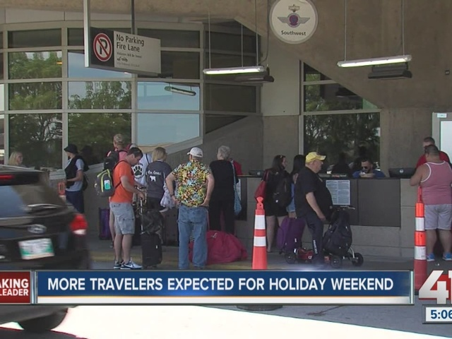 Travelers take-off from KCI airport to Memorial Day destinations