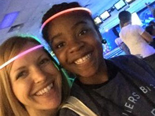 Girl finds new role model through mentoring