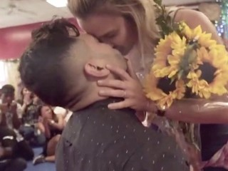 VIDEO: Flash mob helps dancer propose