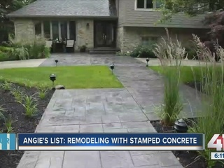 Angie's List: Remodeling with stamped concrete