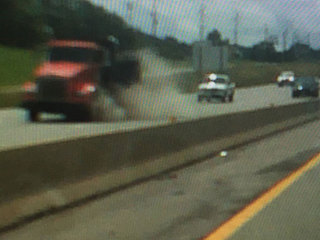 Exploding truck tires damage man's truck 3 times