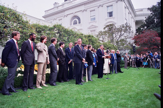 PHOTOS: 1985 KC Royals visit White House