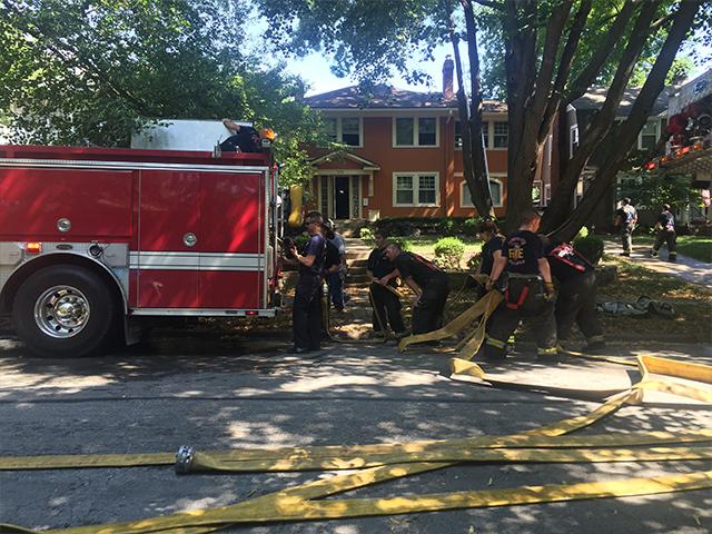 Firefighters work through heat wave