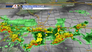 Morning storms roll through KC metro
