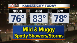 Scattered storms with cooler highs today
