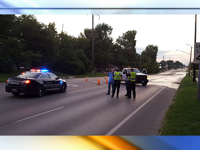 Road partially collapses in Independence
