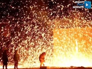 VIDEO: Molten rock makes an epic firecracker