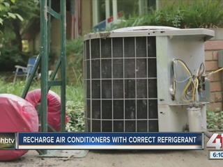Recharge air conditioners with right refrigerant