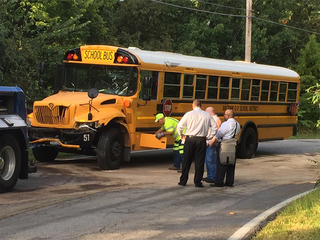 Raytown school bus involved in crash