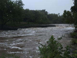 High waters in Indian Creek, but no problems