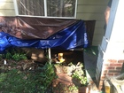 Home ripped apart by flooding storm water