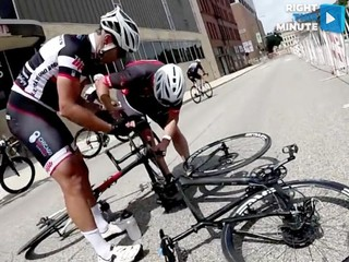 VIDEO: Thumbtacks discovered on bike race course
