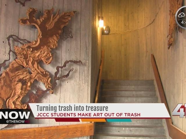 Johnson County Community College students turn trash into treasure