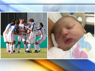 Besler celebrates first child, first int'l goal