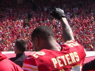 Chiefs coach backs Peters during season opener