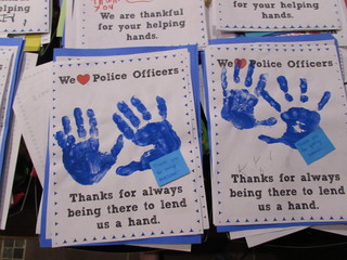 Local police receive hundreds of thank you notes