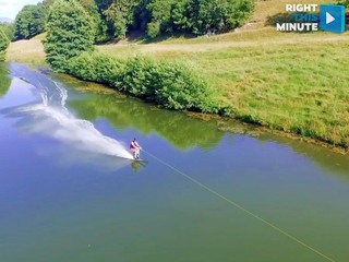 VIDEO: How to water ski without a boat