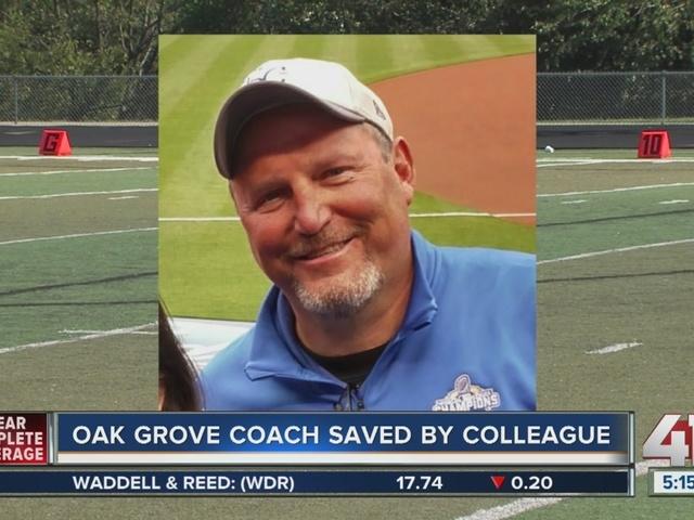 Oak Grover trainer receives award for saving coach's life