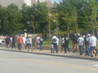Men walk and pray to promote peace in KC