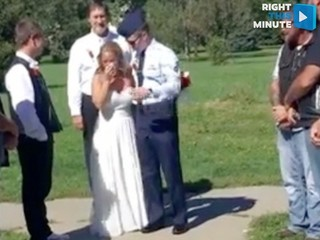Military mom gets a special wedding day surprise
