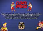 KCKPD investigating reported clown sighting