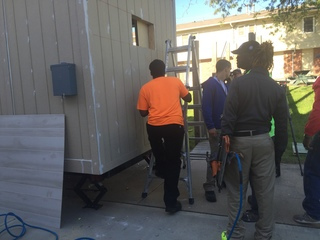 At-risk youth build houses for the homeless