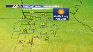 Highs in the 60s Wednesday and Thursday