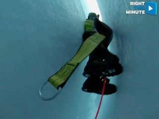 VIDEO: Mock ice crevasse rescue